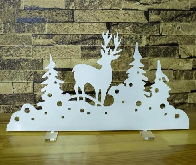 Laser Cut Christmas Decor Tree Deer Christmas Trinkets DXF File