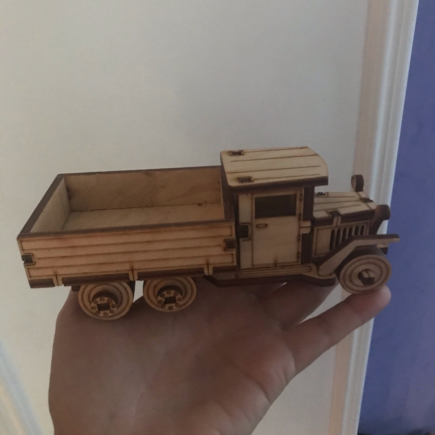 Laser Cut Wooden Toy Truck Free Vector
