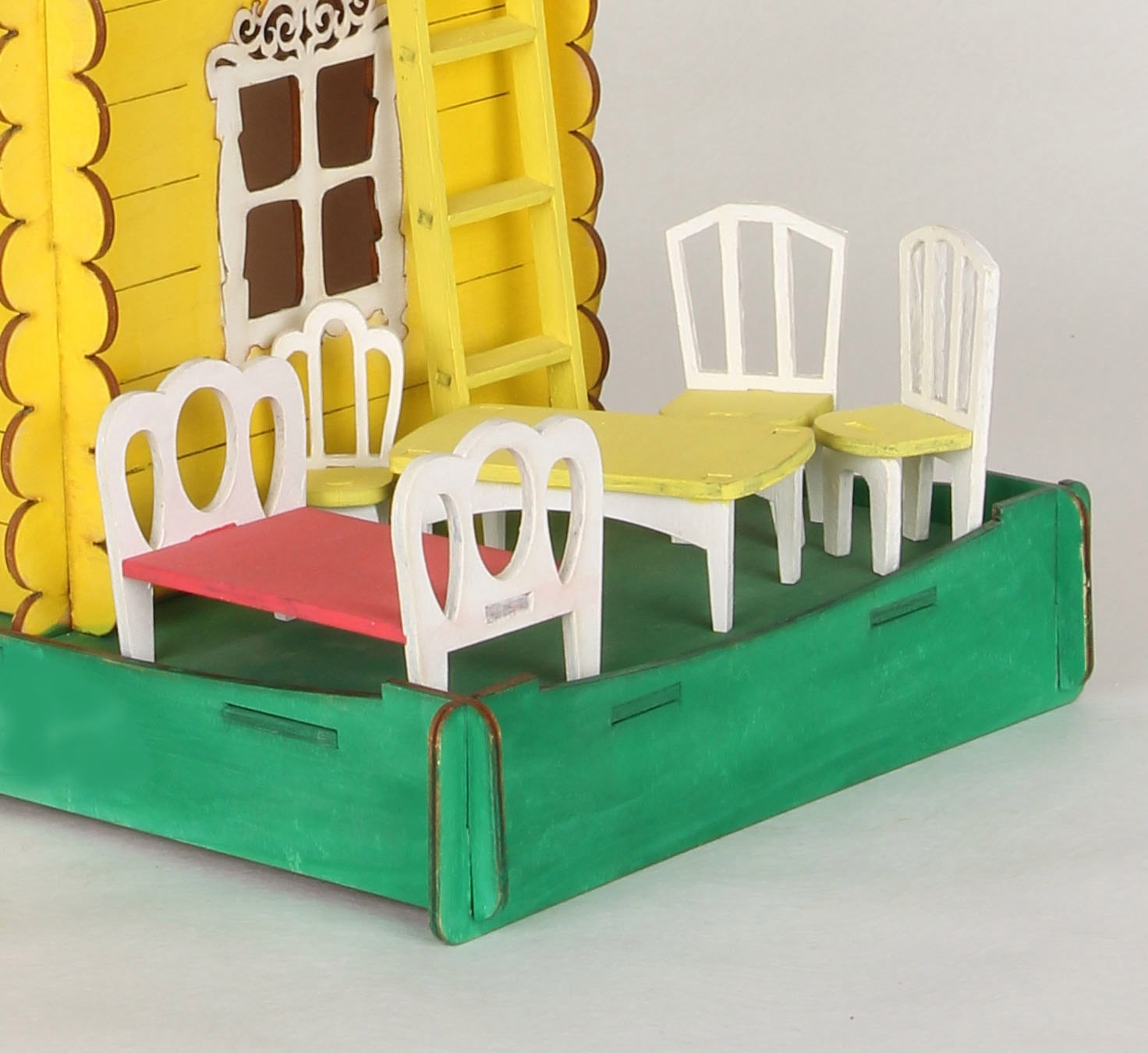 Laser Cut Dollhouse Furniture Miniature Chair Table Bed Free Vector