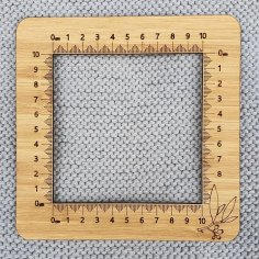 Laser Cut Knitting Tension Square Gauge Free Vector