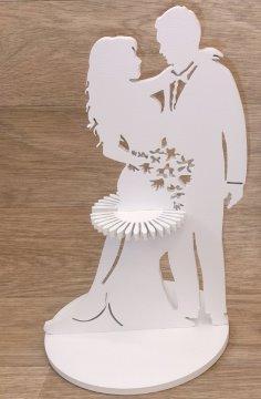 Laser Cut Wedding Napkin Holder Free Vector