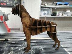Laser Cut Boxer Dog 3D Puzzle Free Vector