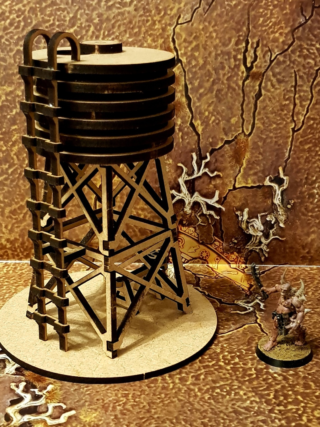 Laser Cut Wodden Water Tower DXF File