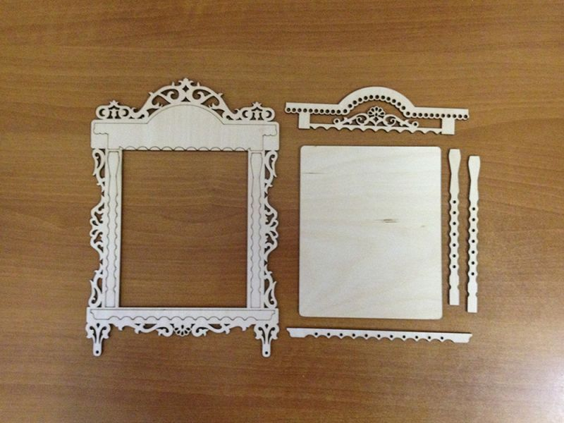 Laser Cut Photo Frame With Platband Free Vector