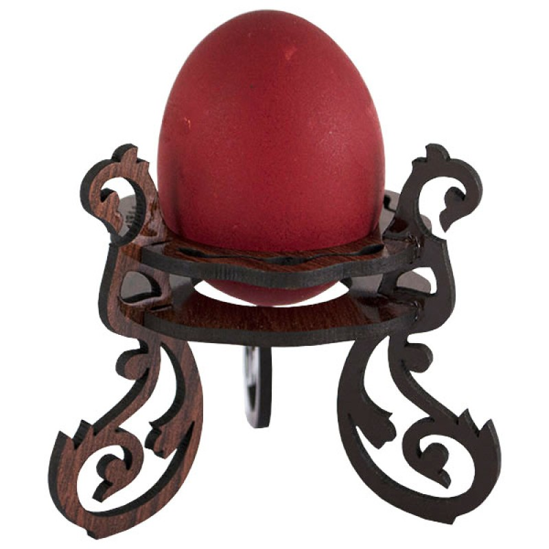 Laser Cut Wooden Decorative Easter Egg Stand Free Vector