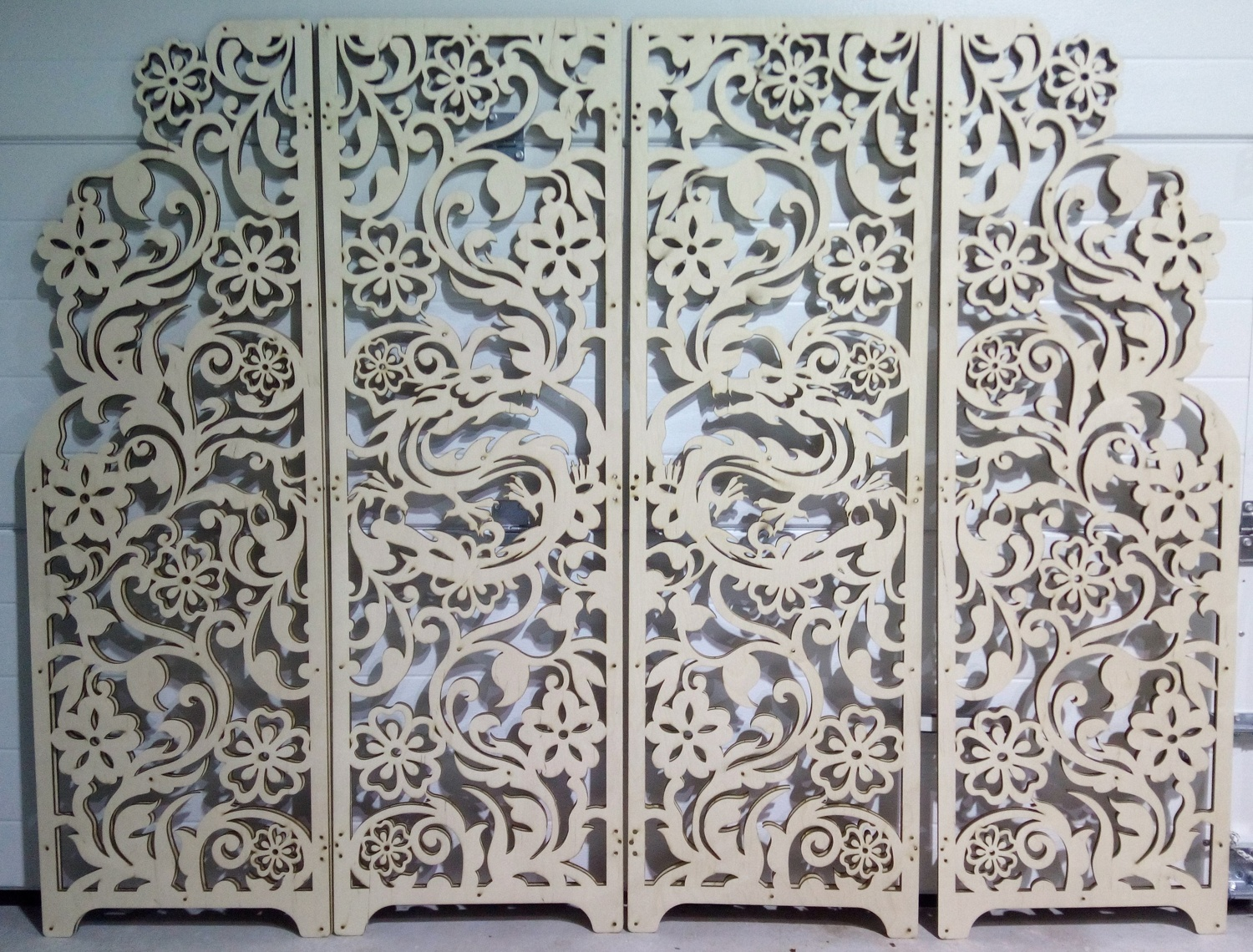Laser Cut Decorative Screen 6mm Plywood 475x1475mm DXF File