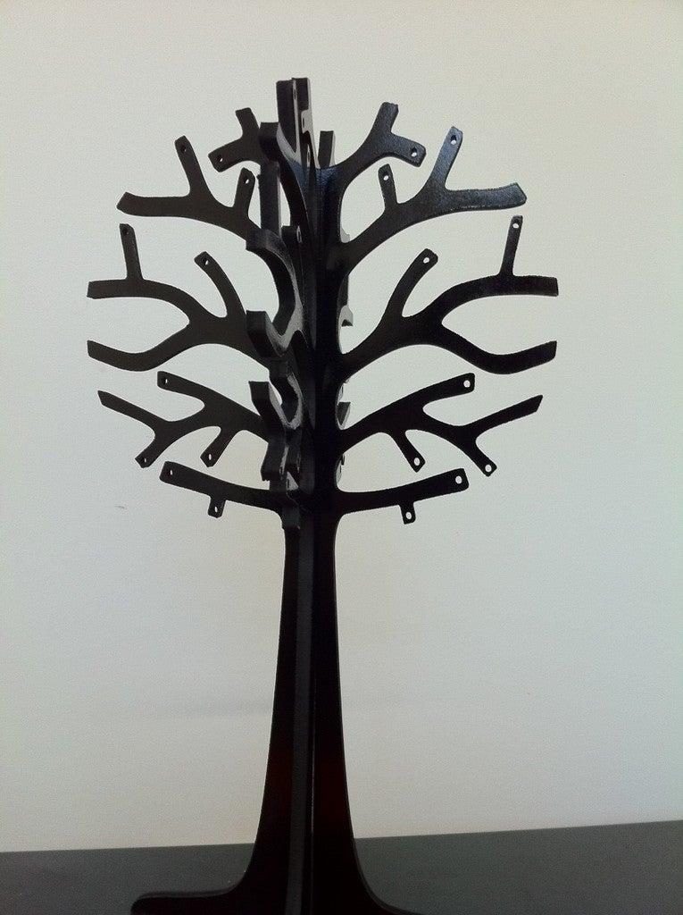 Laser Cut Wooden Jewellery Display Tree 3mm DXF File