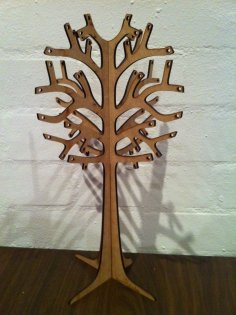 Laser Cut Wooden Jewellery Display Tree 3mm DXF File