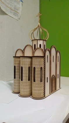Laser Cut Church Of The Intercession On The Nerl Wooden Model Free Vector