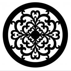 Laser Cut Decorative Round Design SVG File