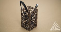 Laser Cut Geometric Pencil Holder SVG File