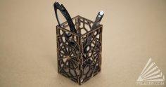 Laser Cut Geometric Pencil Holder SVG File