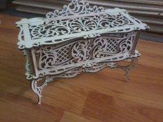 Laser Cut Wooden Decorative Jewelry Box Free Vector