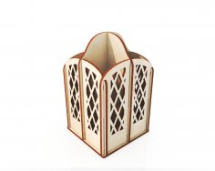 Laser Cut Pencil Holder Storage Organizer 4mm Free Vector