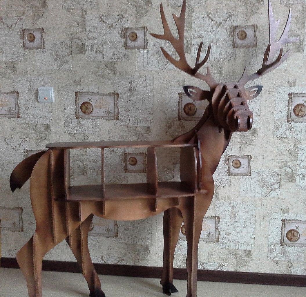 Laser Cut Deer Furniture Shelf DXF File