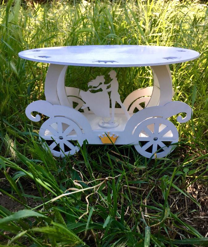 Laser Cut Cinderella Carriage Cake Stand For Wedding Or Birthday Free Vector