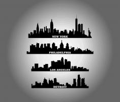 City Buildings dxf File