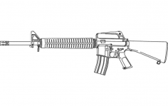 M16 Rifle dxf File