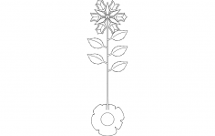 Rose Plant dxf File