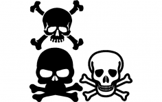 Skull And Crossbone dxf File