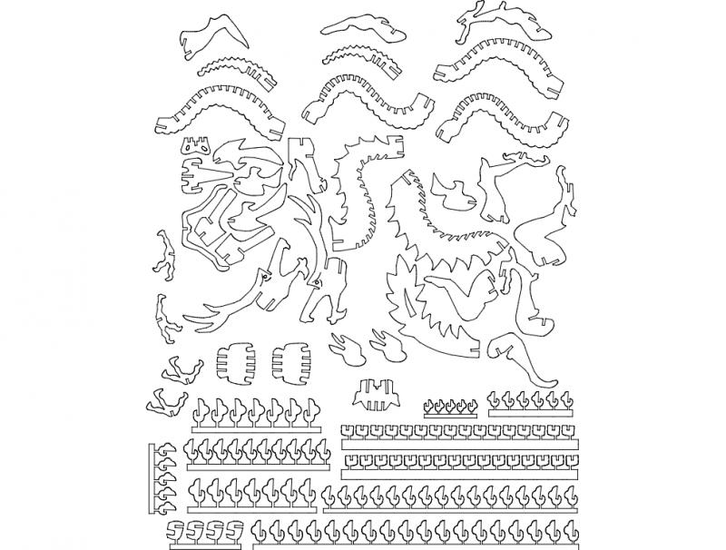 Cisne 3d Puzzle Dxf File Free Download – Fondos de Pantalla