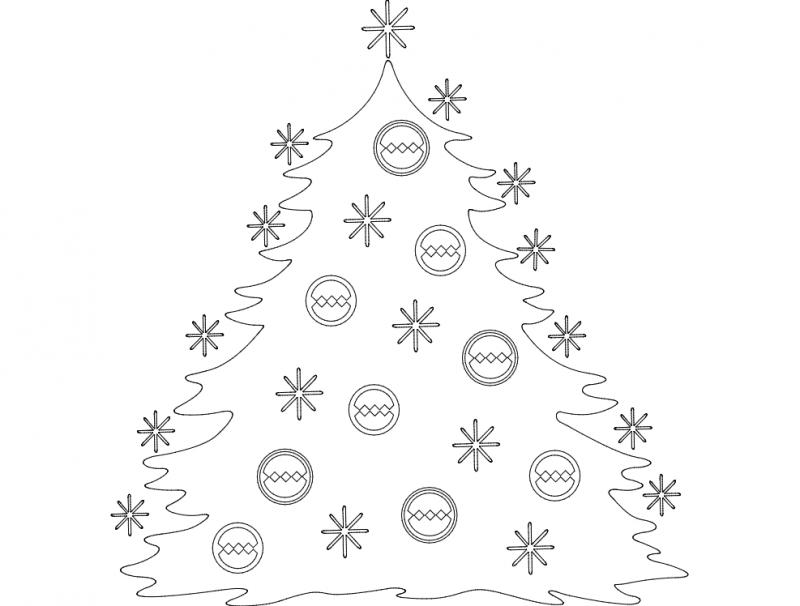 Festive Stuff Christmas Tree dxf File