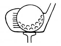 Golf dxf File