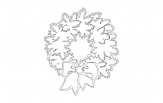 xmas wreath dxf File