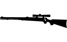 Rifle dxf File