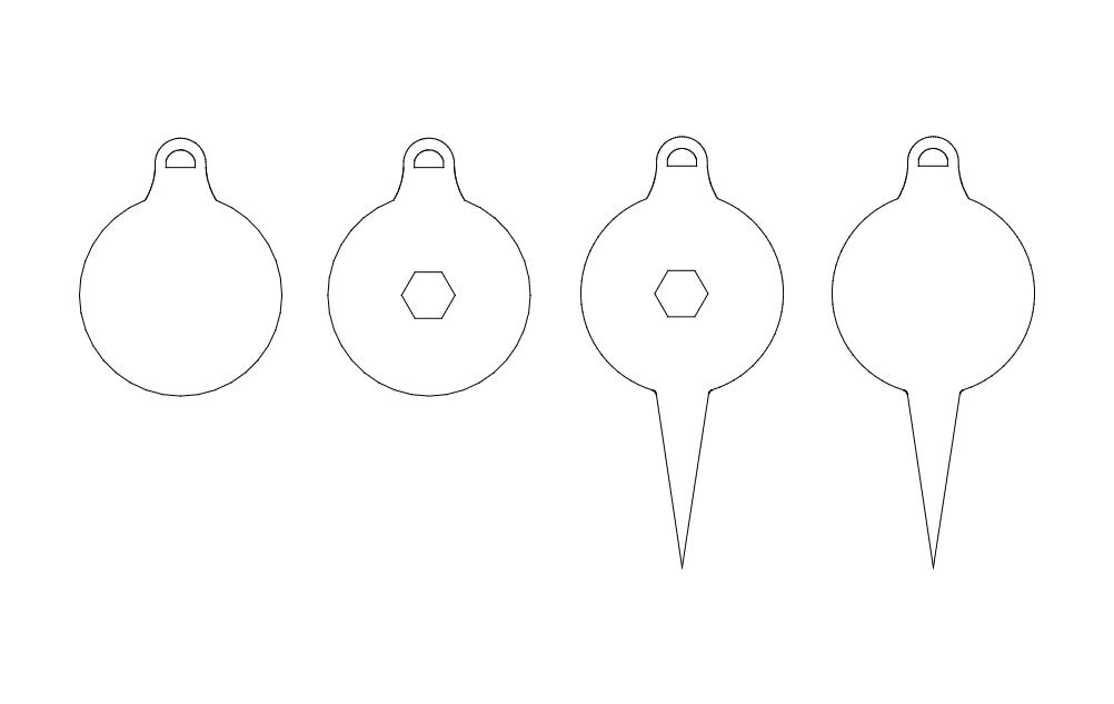 Tree ornaments dxf File
