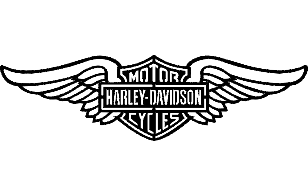 Harley Wings dxf File