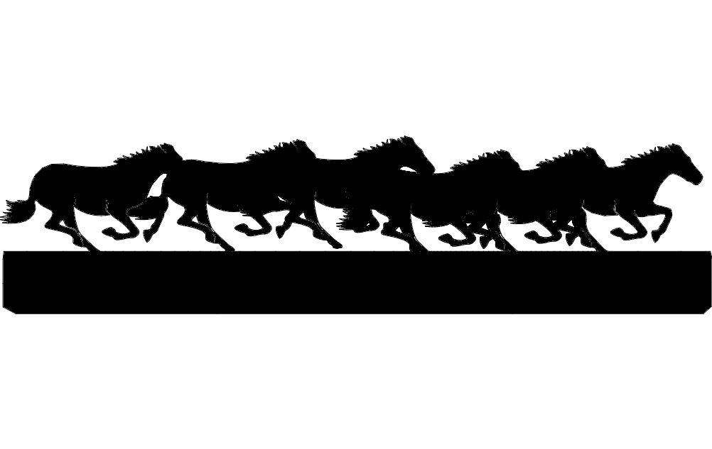 Horses Running dxf File