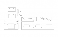 Winch cradle new dxf File