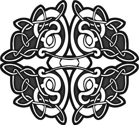Circle Celtic Design Vector Free Vector