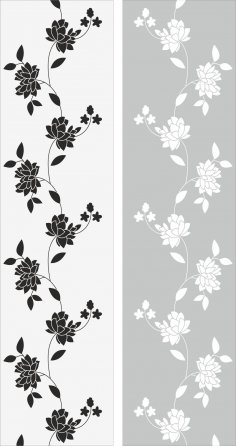 Flowers Glass Decal Vector Free Vector