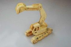Excavator Model Laser Cutting plans PDF File