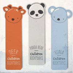 Laser Cut Bookmarks Deer Panda Koala
