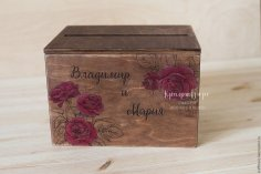Box With Roses Laser Cut
