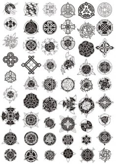 Celtic Ornament Vector Pack Free Vector