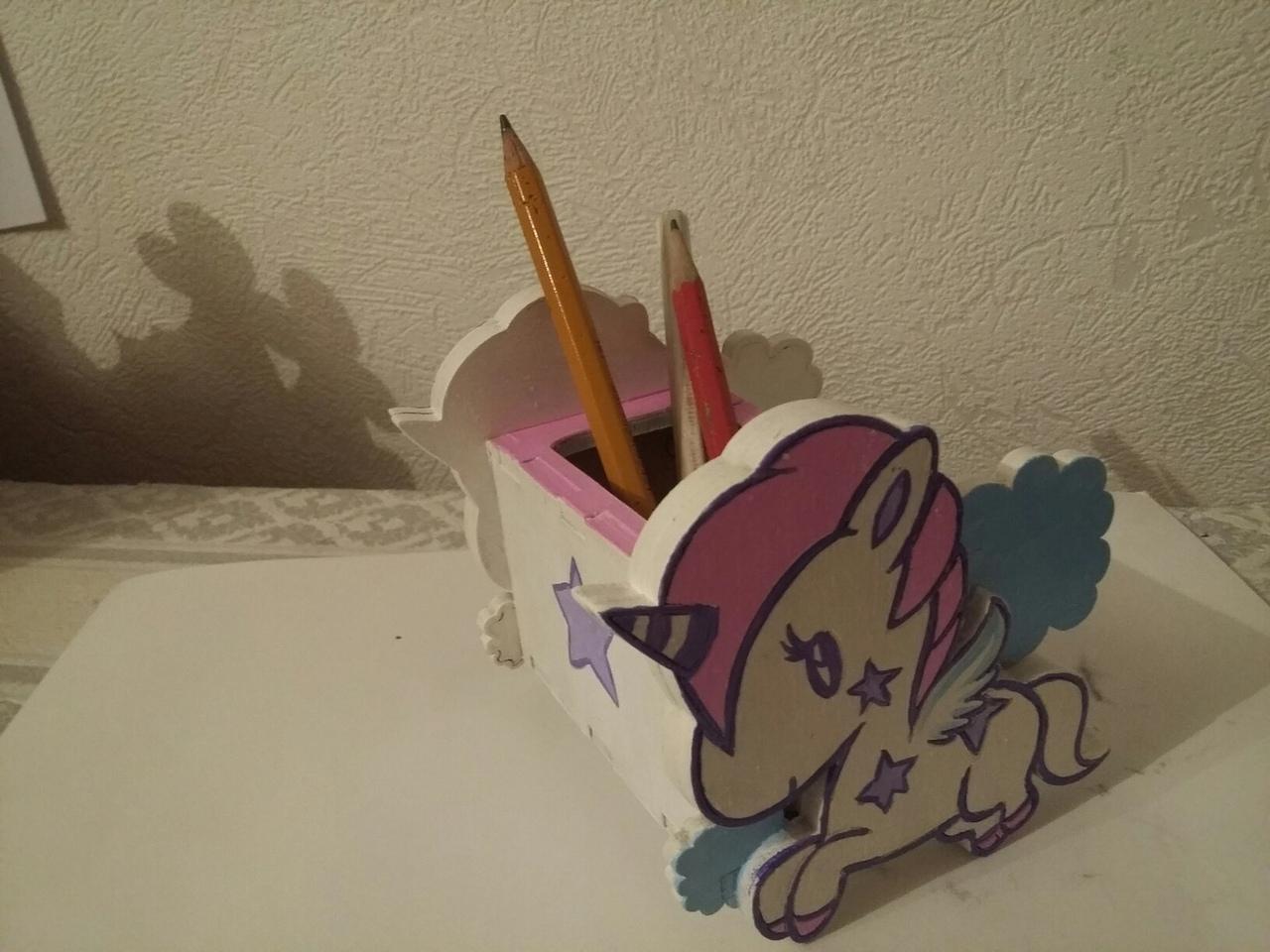 Unicorn Desk Organizer Free Vector