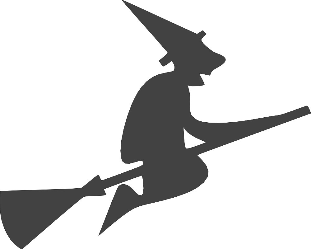 Halloween witch flying clipart DXF File
