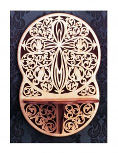 Victorian Cross With Shelf Scroll Saw Pattern PDF File