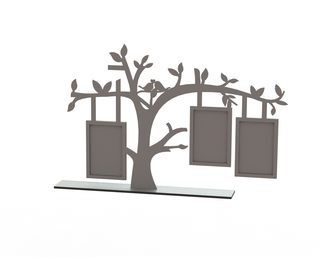 Tree Frame Laser Cut DXF File