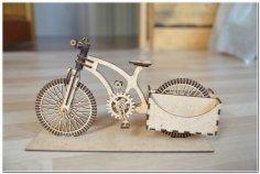 Wooden Organizer A Bike Free Vector
