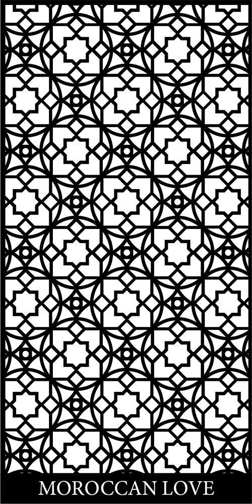 Moroccan Screen Design Pattern dxf File
