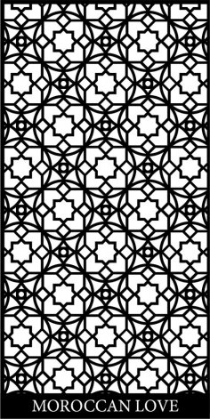 Moroccan Screen Design Pattern dxf File
