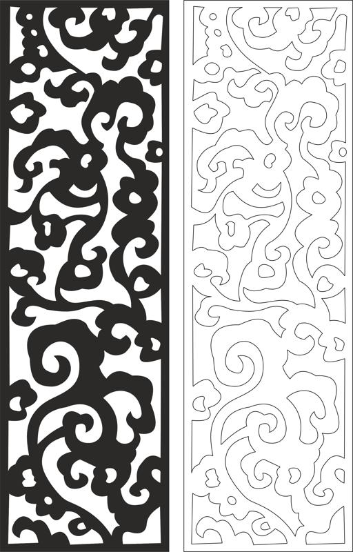 Floral seamless pattern dxf File
