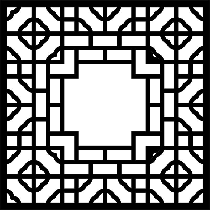 Ornamental Pattern dxf File