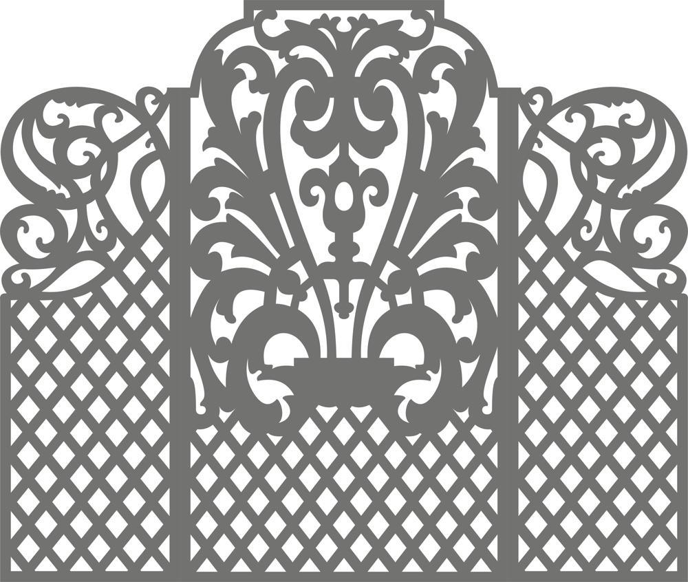 Carved Wedding Screen Vector Free Vector
