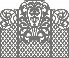 Carved Wedding Screen Vector Free Vector